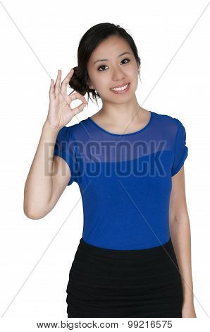 Woman Okay Sign