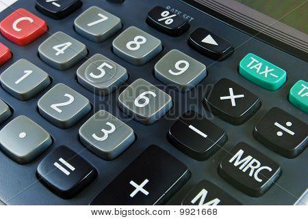 Closeup Of Calculator Detail