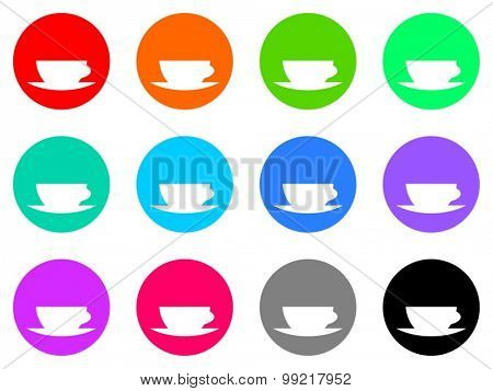 espresso flat design modern vector circle icons colorful set for web and mobile app isolated on white background