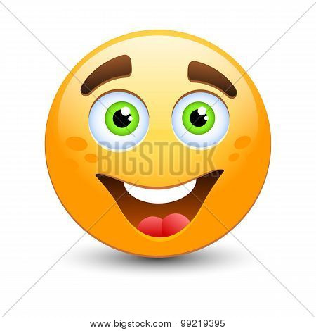 Happy Vector Emoticon