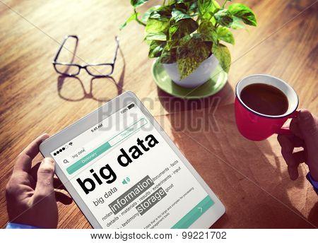Digital Dictionary Big Data Information Storage Concept