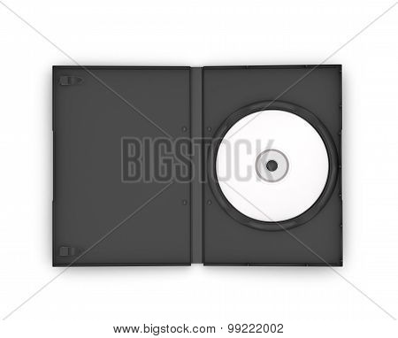 Dvd Box With Disc, Isolated On White Background