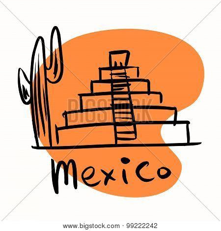 Mexico City Mayan Pyramids