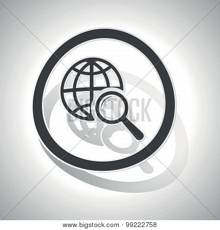Global search sign sticker, curved