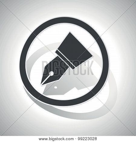 Ink pen sign sticker, curved