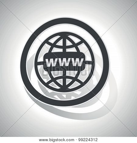 Global network sign sticker, curved