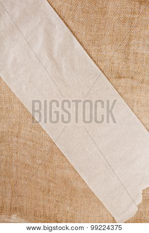 Canvas Background With Blank Paper