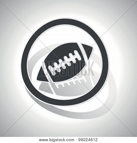 Rugby sign sticker, curved