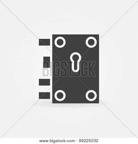 Door lock icon or logo