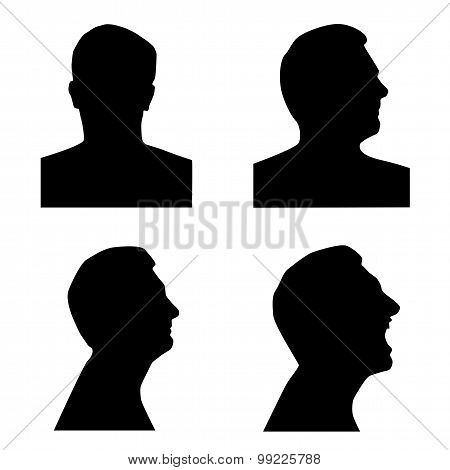 Profile silhouette set