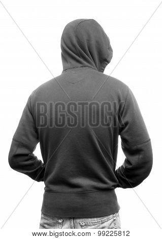 Hoodies Back - Stock Image