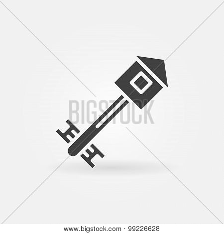 House key icon or logo
