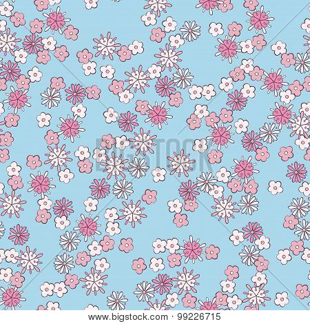 light romantic floral seamless pattern. vector background