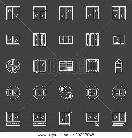 Window installation icons