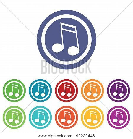 Music signs colored set 2