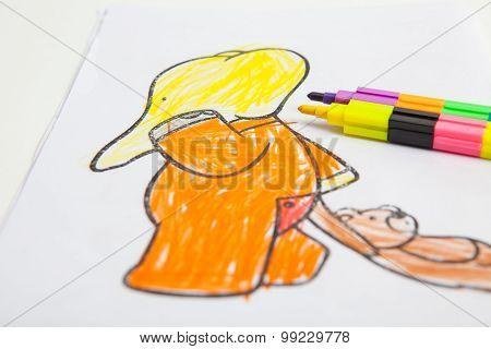 Paintings Of Children In Kindergarten At Thailand