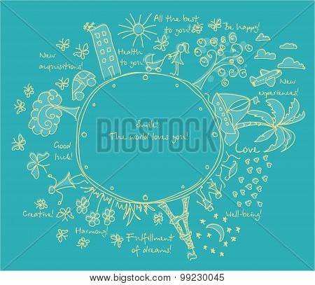 Vector Goals dreams and wishes background