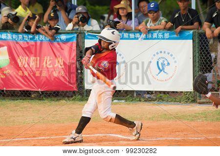 Zhongshan Panda Cup, Zhongshan, Guangdong - August 4:batter Of Team Taiwan Zhanghua Dongshan Primary