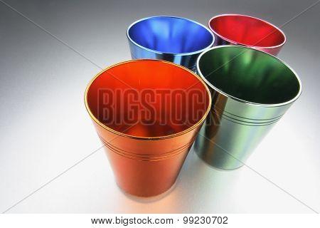 Coloured Tin Cups