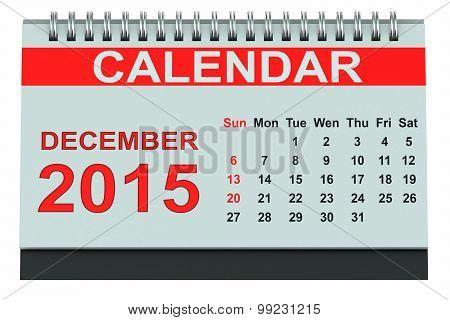 December 2015 Desk Calendar