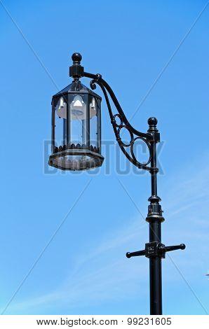 Traditional black streetlight.