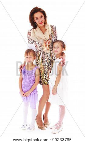 Mother with her daughters