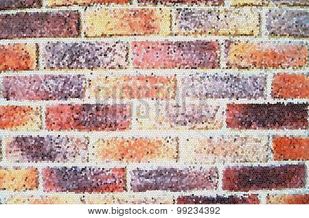 Colorful brick walll texture background, mosaic effect