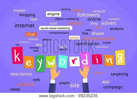 Keywording Optimization Concept Web Development