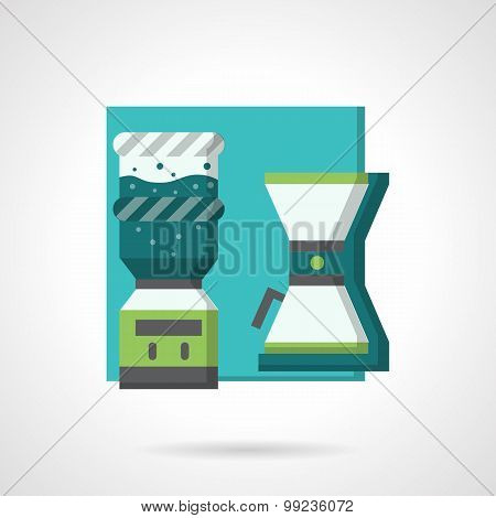Coffee break flat vector icon
