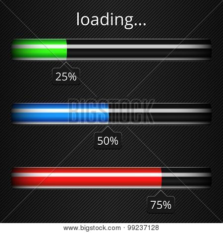Loading Progress Bars Template