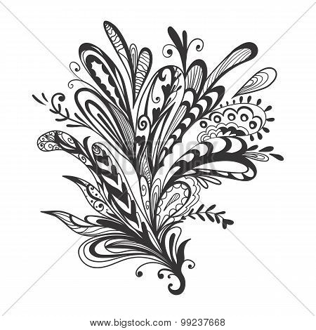 Black and White Vector Ornament