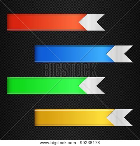 Set Of Vector Bookmarks, Stickers, Labels, Tags Or Banners