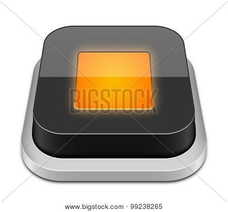 Stop Button Icon, Vector Illustration