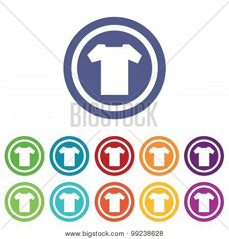 T-shirt signs colored set