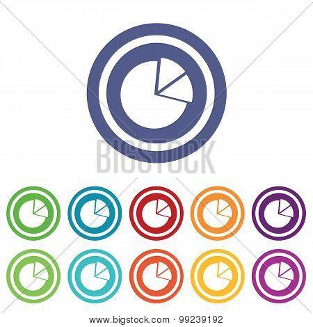 Diagram signs colored set