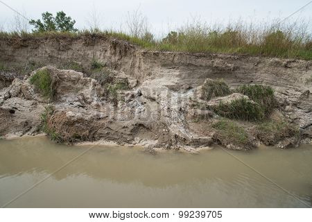 Eroding Western Stream Bank
