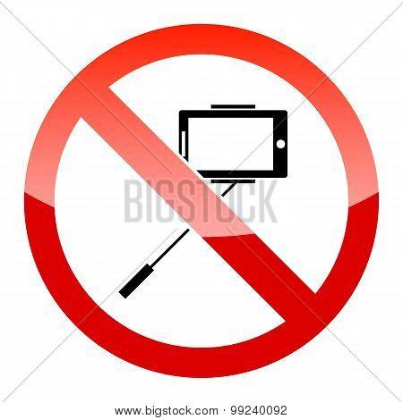 Selfie forbidden icon