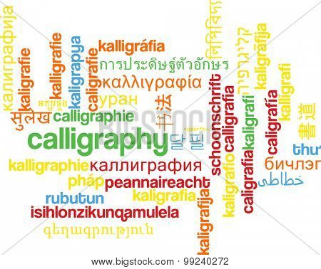 Background concept wordcloud multilanguage international many language illustration of calligraphy