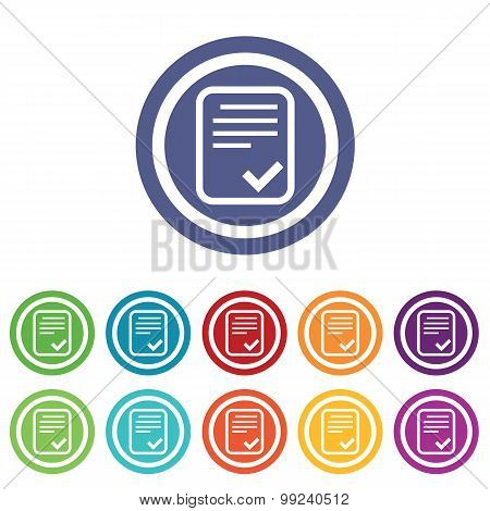 Approved document signs colored set