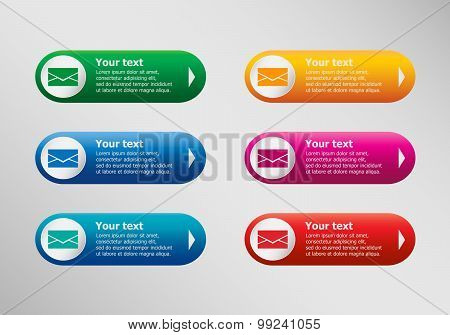 Envelope Icon And Infographic Design Template, Business Concept.