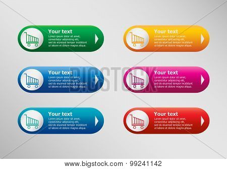 Shopping Cart And Infographic Design Template, Business Concept.