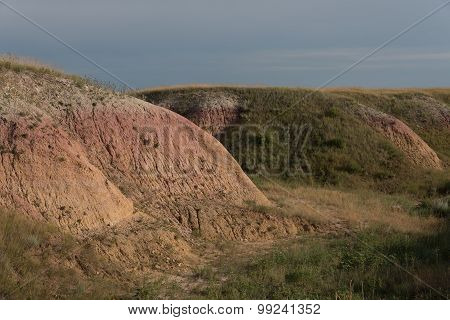 Grass Covered Badlands Color