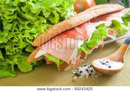 sandwich with ham bocadillo