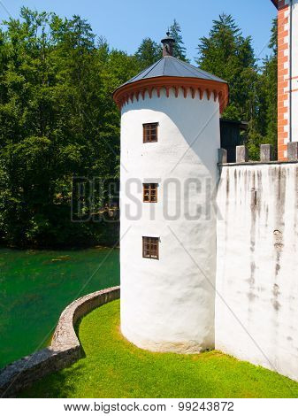 White guard tower of Sneznik Castle