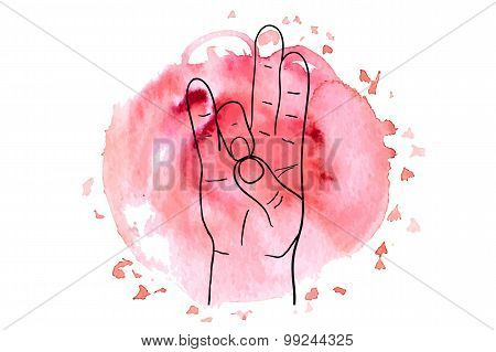 Element yoga Prithivi mudra hands