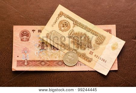 Currency of the Russian, Chinese