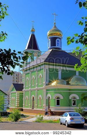 View of the church of St. Sergius of Radonezh.