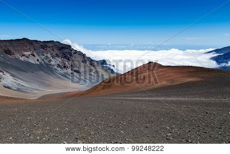 Haleakala volcano on the Hawaiian island of Maui