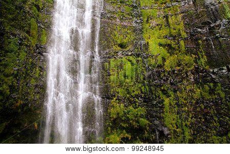 Vaymoku beautiful waterfall on the island of Maui, Hawaii, United States of America
