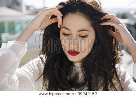 Long hair woman